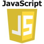 Das Logo der Programmierpsrache Javascript auf weissen Grund